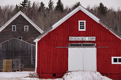 two barns (jtr27) Tags: dsc03329e jtr27 sony alpha nex6 nex sigma 1770mm f2845 dc dcmacro laea2 amount adapter red barn newhampshire nh newengland