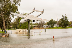 20160910-143455_Forbes_D7100_3670.jpg (Foster's Lightroom) Tags: sutherlandpcycconcertbandforbestrip2016 trees flight plants dehavillandvampire water forbes australia newsouthwales lakeforbes aeroplanes lakes floods airplanes au