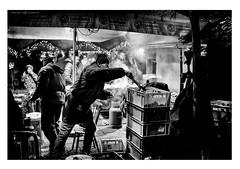 Masterchef (Dalibor Papcun) Tags: christmasmarket kosice streetphotography stphotography streetlife city food meat grill chef bw blackandwhite monochromat nikon28mm
