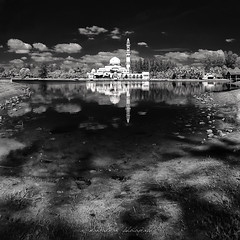 time flies fast.. (sirman88) Tags: white azmanrahman f9 unknown mosque ibai masjid putih masjidibai terengganu kualaterengganu shadow blackwhite bw stone souls line sunrise trees sand silhoutte guardian collapsed simplicity fbe structure sky shelter leading dark alone black dry incompatible glorious interestingness light malaysia motion panorama pointing revisited sirman sirman88 traveldestinations photographyoutdoors