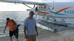 Our pilot for the round-trip flight between Dry Tortugas National Park and Key West, Florida (lhboudreau) Tags: drytortugas pilot dehavilland dhc3 otter seaplane tortugas nationalparkparkdry national park shore beach pontoon pontoons water ocean gulf gulfofmexico