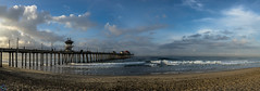 Surf City Pano (PhotonLab) Tags: clouds cloudscape sunrise sun ocean huntington beach landscape seascape day surfcity california cali oc orangecounty whiteclouds beautiful peaceful outdoor cloud water seaside shore sky sea coast wave panoramic panorama pano wideangle wideprime zeiss zeisslens carlzeiss batis zeissbatis 25mmf2 sony sonya7ii emount