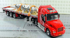 IVECO  STRATOR TORPEDO 6X2 + CURTAIN SIDED TRAILER + COILS WITH ALUMINUM HANDMADE-017 (Diecasts Collectors Brasil) Tags: iveco strator torpedo – wsi premium 9945 classic curtain sided trailer 131028 coils with aluminum sheet handmade