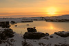 Sunset on a small lake, Iceland (Jenny Thynne) Tags: sunset iceland snow lake thermal myvatn