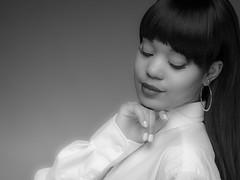 2017-1-2-1-4 (jerseytom55) Tags: pentax645z 645z priolite molasetti blackandwhite beautifulwoman beautifulblackwoman intimate whiteshirt lips portrait