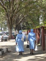 Mothers in uniform (prondis_in_kenya) Tags: nairobi kenya hotdryseason mother uniform dress church holyfamily basilica