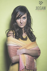 Anna (Jigsaw-Photography-UK) Tags: girl yellow studio scarf