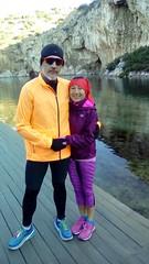Mazi me tin Maria prin tin ekkinisi (illrunningGR) Tags: illrunning marbie runthelake races 10km vouliagmeni greece