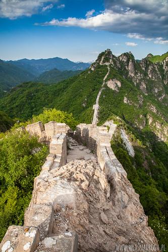 Jedna z najwęższych części muru w Jiankou