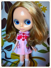Micah in her new shirt.. dress...