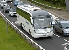 FJ57 KHU (Cammies Transport Photography) Tags: bus coach edinburgh replacement rail newbridge caetano flyover m9 levante mcleans khu fj57 fj57khu