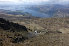 view from Ben Lomond (Sean Munson) Tags: mountain lake mountains landscape scotland highlands hiking loch benlomond lochlomond scottishhighlands beinnlaomainn lochlomondandthetrossachsnationalpark beaconmountain benlomondnationalmemorialpark