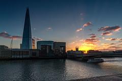 Southwark Sunset (NoVice87) Tags: sunset thames londonbridge river shard