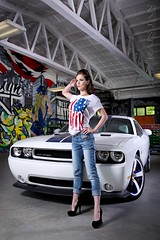 R15 1200px net (Jan Rais) Tags: blue woman usa white girl car racecar america canon roth stars eos graffiti star design model republic power czech mark stripes flag garage iii dream americanflag pilsen racing best american workshop classics dodge 5d hemi usm 50 powerful 70200 challenger racer elegance srt 392 24105 fierceness girlsandcars czechgirl usstyle