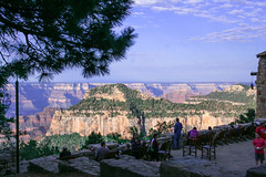 People watching Early Morning lighting of Grand Canyon Explored 9th July 2015 (ramesh_lalwani) Tags: grandcanyon tourists northrim