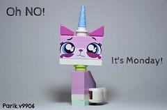 Oh No! It's Monday!! (parik.v9906) Tags: cat project sadness nikon sad lego days legos 365 monday unicorn d90 criying unikitty
