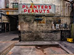 Planters Peanuts (Jim Nix / Nomadic Pursuits) Tags: travel sign alley nashville tennessee grunge olympus planterspeanuts mirrorless nomadicpursuits jimnix olympusomdem1