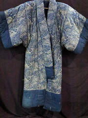LINEN:  Japanese Yogi -- winter quilt in form of kimono