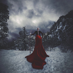 storm watcher (sparkbearer) Tags: chelseaknight fineartphotography 365project mtbaldy snow cold winter storm red