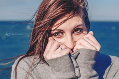 Shy (Mary-Eloise) Tags: si timidezza winter wind portrait nikon d90 lady girl wow woman colorful