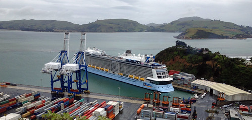 MS Ovation of The Seas at Port Chalmers, New Zealand.