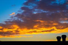 Rooftop sunrise (vinnie saxon) Tags: rooftop sunrise clouds urban sky silhouette morning colors nikoniste nikon