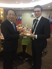 Con il direttore del ministero dell'agricoltura di Taiwan
