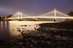 Albert Bridge (chain) (rafpas82) Tags: albertbridge london londra chelsea lights bridge luci ponte lowtide mud leadinglines iperfocale hyperfocal d7000 nikon sigma1770 2016 uk granbretagna greatbritain water thames tamigi londonphotowalks