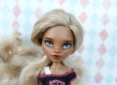 Clawdeen Wolf repaint (KarinaKo) Tags: comission monsterhigh repaint ooak custom monster high doll clawdeen wolf mh face up make