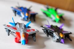 Hasbro Legends Cass Seekers (EZ Balance Photography) Tags: decepticon transormers seekers starscream thudercracker skywarp acidstorm squadron f16 raptor legends class collection