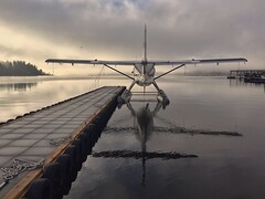 Solitude (otterdrivernw) Tags: upperleftusa floatplanes floatplane seaplanes seaplane clouds sunrise water lakes reflections reflection lakewashington pacificnorthwest seattle
