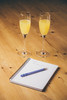 Week 1 - The Start (AlistairBeavis) Tags: alistairbeavis alistairbeaviscom 52weeks 52weeksof2017 notebook plans january buckfizz glasses drink table story hcs