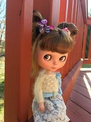Blythe enjoys outdoors