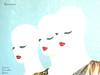 Riccione - Manichini evanescenti - 28.12.2016 - Gianni Porcellini - IMG_3465-1-V (Gianni Porcellini) Tags: riccione spiaggia manichini evanescente fantasma bianco labbra rosse ciglia visi donne tre moda perla verde gianni