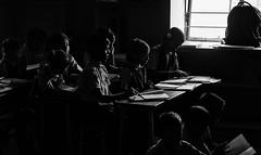 classroom (Dean Forbes) Tags: india school classroom students windowlight bw rural tamilnadu