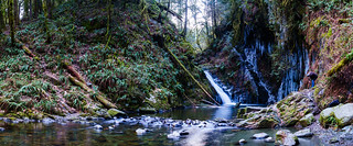 Goldstream falls pano