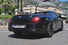 Bentley Continental Supersports Convertible (D's Carspotting) Tags: bentley continental supersports convertible monaco black 20130731 w40632a