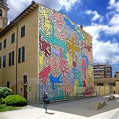 Pisa - Tuttomondo by Keith Haring (pom.angers) Tags: panasonicdmctz30 april 2016 pisa toscana tuscany italia italy europeanunion art murale painting keithharing tuttomondo