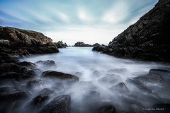 Sometimes you just have to go where the waves take you....... (Leigh-Ann Mitchell Photography) Tags: water sea seascape clouds rocks sky blue long exposure aberdeenshire scotland