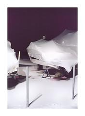 Tracker (Baipin) Tags: super23 mamiya camera medium format tracker marine marines shrink wrap white purple blood period boating sell store sotrage off season post wheel night nacht photo mf 120 120love colour theory new topography documentary sw ont ontario canada place zeitgeist feel aura
