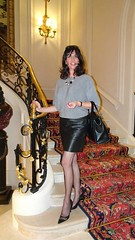 Happy Birthday @ the Ritz (french_lolita) Tags: grey blouse black leather skirt