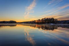 Just another sunset (PixPep) Tags: nysockensjön värmland sverige sweden arvika sunset winter reflections island pixpep