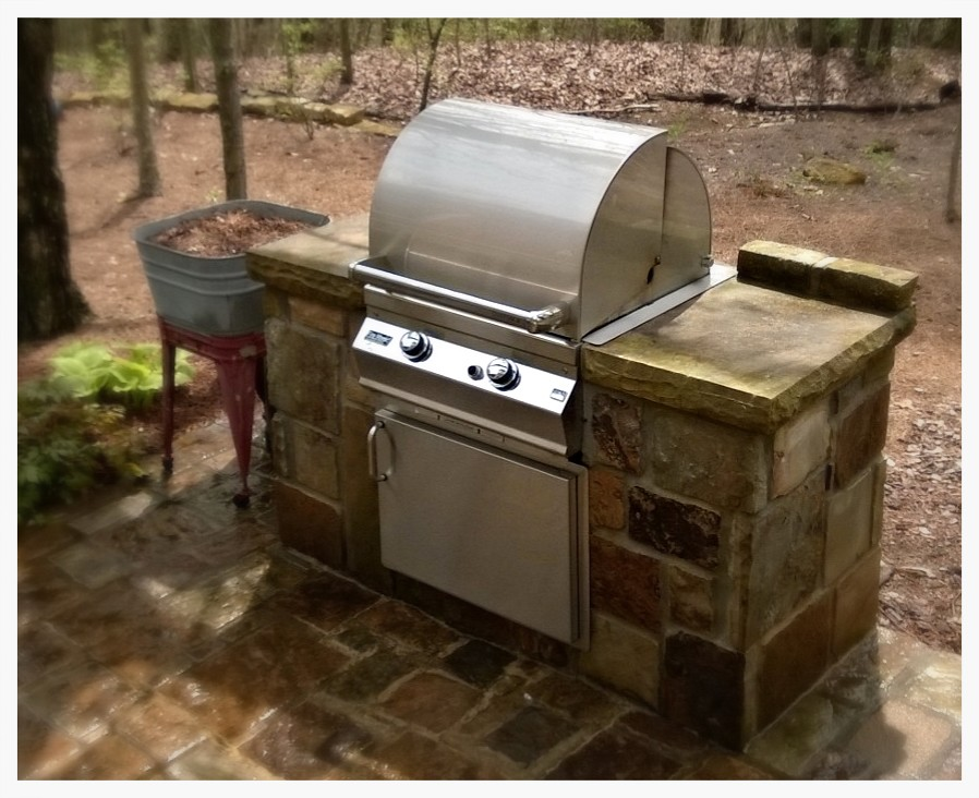 Custom Fire Magic Outdoor Kitchen, Signal Mountain, TN.