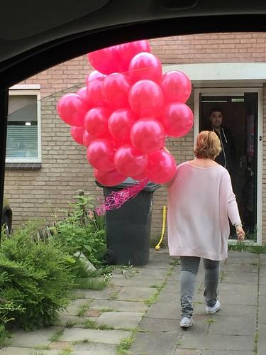 Heliumballonnen Fuchsia