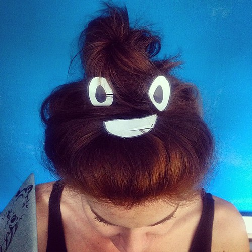 I made 💩 #emojihair for Sarah H at #w by We Are Social, on Flickr