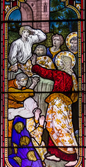 Photo of Stained glass detail, St Denys' church, Sleaford