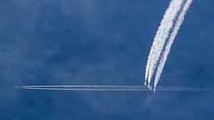 Thunderbird Seven? (Skeeter Photo) Tags: contrail smoke trails f16 mkt thunderbirds usaf mn vapor 757 usairforce mankato avgeek b752 kmkt n750at dtwsea minnesotaairspectacular skeeterphoto dal733