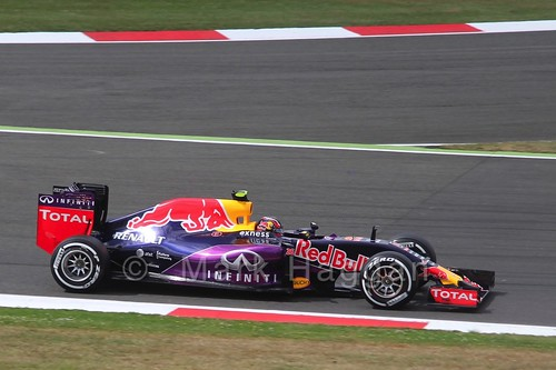 Daniil Kvyat in Free Practice 3 for the 2015 British Grand Prix at Silverstone