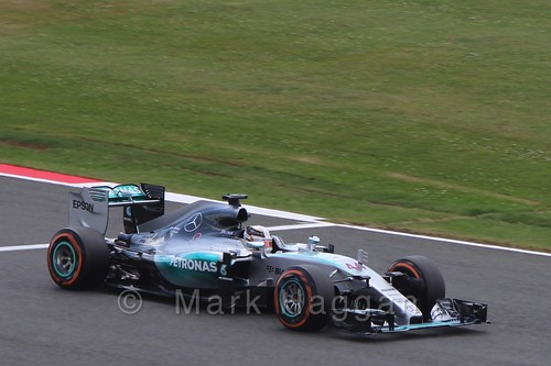 Lewis Hamilton in qualifying for the 2015 British Grand Prix at Silverstone