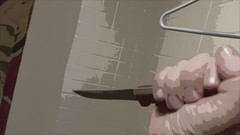 Took a stab at it (LeftCoastKenny) Tags: shower knife utata 169 hanger stabby cinematicaspectratio ironphotographer utata:project=ip86